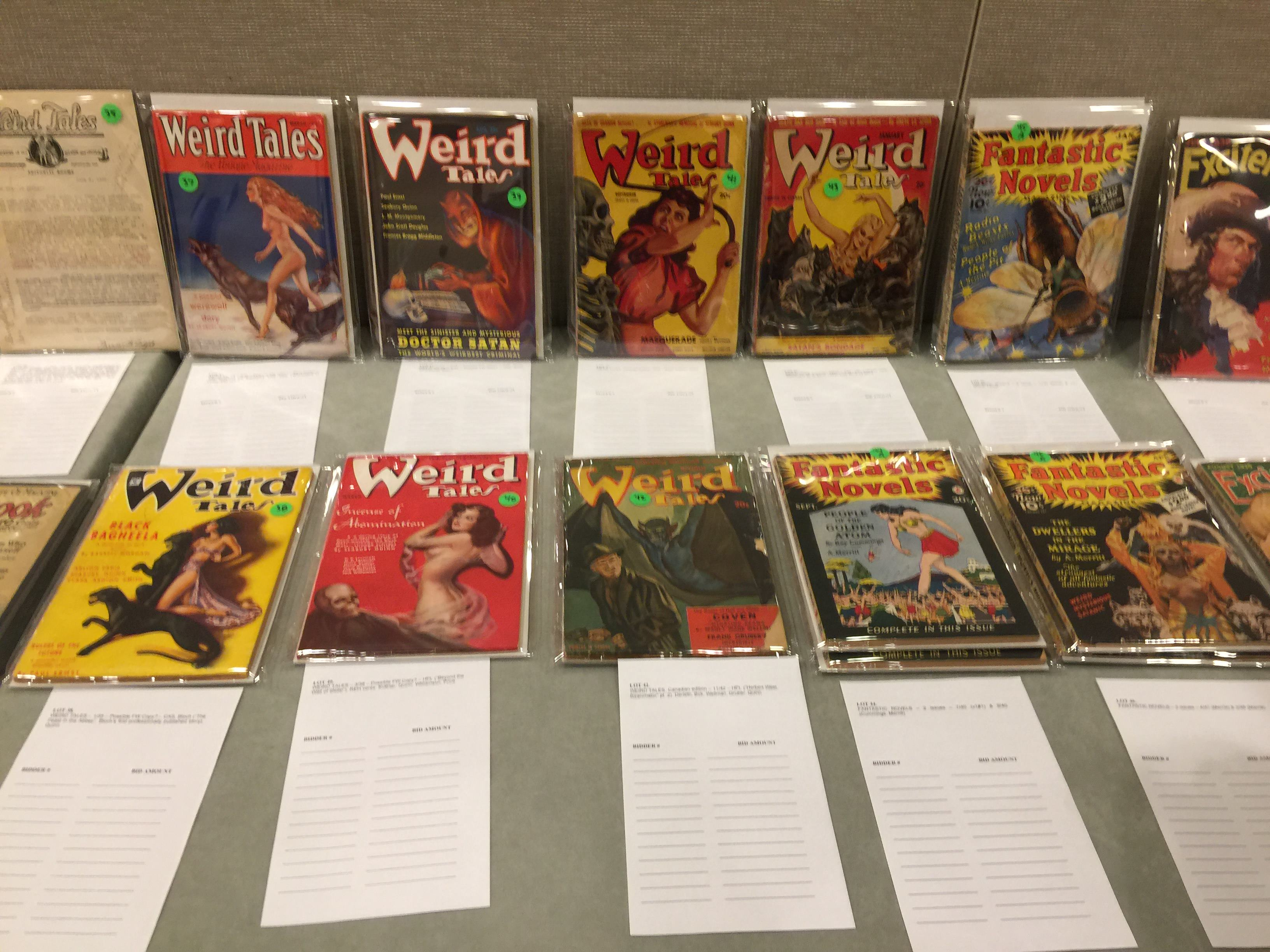 Some beautiful condition issues of Weird Tales, including a few Canadian editions